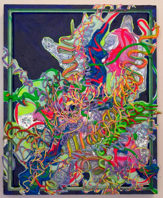 Alien Puke, 11×14 inches, acrylic on canvas 2016