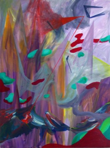 Battleground, 30×40 inches, acrylic on canvas, 2013