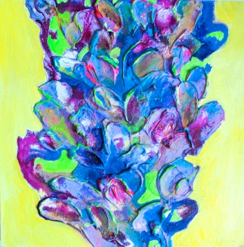 Bloom 5, 12x12 inches, acrylic on wood panel, 2016