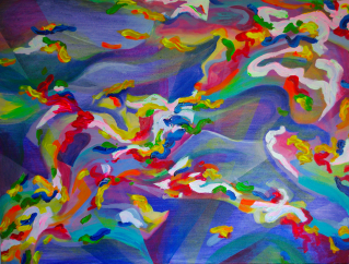 Channels, 30×40 inches acrylic on canvas, 2014