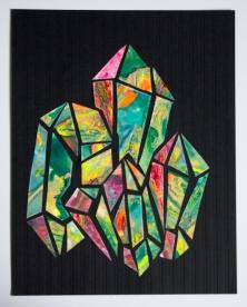 Druzy, 8.5x11 inches, original Collage, 2016