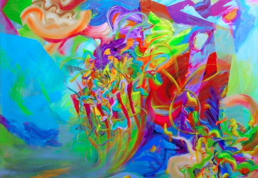 Flux, 48×72 inches, acrylic on canvas, 2016