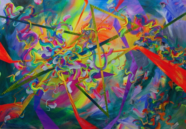 Maelstrom, 48×72 inches, acrylic on canvas 2014
