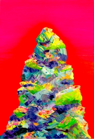 Mountain 2, 24×36 inches, acrylic on canvas 2016