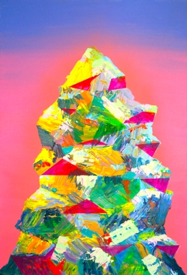 Mountain 3, 24×36 inches, acrylic on canvas 2016
