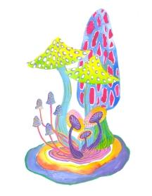 summer-fungus-print