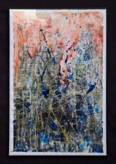 Untitled, 24x36 inches, mixed media on paper, 2010